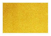 Фоамиран с глитером EVA золотой