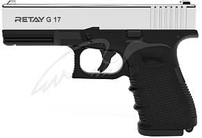 Пистолет стартовый Retay G17 кал. 9 мм. Цвет - nickel.