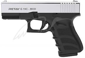 Пистолет стартовый Retay G 19C кал. 9 мм. Цвет - nickel.