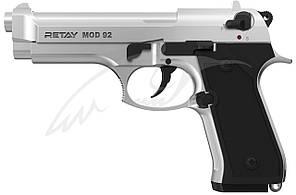 Пистолет стартовый Retay Mod.92 кал. 9 мм. Цвет - chrome.