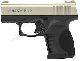 Пистолет стартовый Retay P114 кал. 9 мм. Цвет - satin.