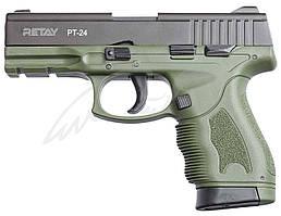 Пистолет стартовый Retay PT24 кал. 9 мм. Цвет - olive.