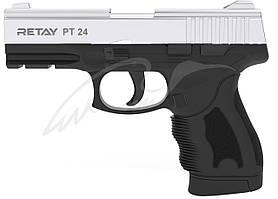 Пистолет стартовый Retay PT24 кал. 9 мм. Цвет - nickel.
