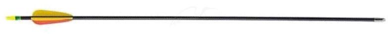 Стрела для лука Man Kung MK-FA26. Фиберглас. Цвет - черный