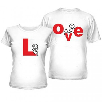 Парные футболки для двоих LOVE