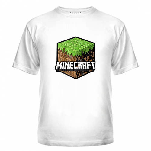 Футболка с логотипом Майнкрафт, Minecraft logo