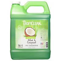 """Шампунь TropiClean Aloe & Coconut Pet """"Алое и кокос"""" для собак и кошек, 3,8 л"""