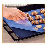 Силиконовый коврик для выпечки и кондитерки антипригарный для запекания и раскатки теста 37х27см (НН-025)