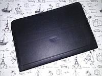 Мужская папка-портфель из искусственной кожи черная + калькулятор 25011