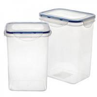 Контейнер (емкость) для хранения сыпучих продуктов (круп) 2 шт. в наборе Stenson (B-063)