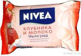 Мыло Нивея Клубника и молоко 90гр