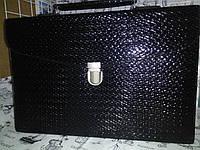 Папка-портфель из искусственной кожи черная  20071, фото 1