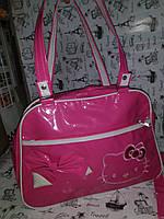 Сумка  детская ,темно- розовая Hello Kitty    к.10289