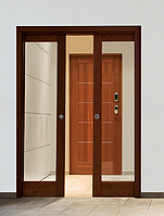 Раздвижные двустворчатые межкомнатные  двери Dierre