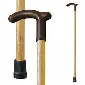 Трость для ходьбы (для инвалидов и пожилых) опорная с ручкой Мирта народная (514)