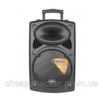 Колонка Чемодан Аккумуляторная UKC BT-15,12A Bluetooth Акустическая Система UKC BT15A + 2 mic + BT 12v\220v