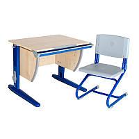 """Набор универсальной мебели """"Дэми"""":  Стол СУТ.14-00 клен/синий, стул СУТ.01"""