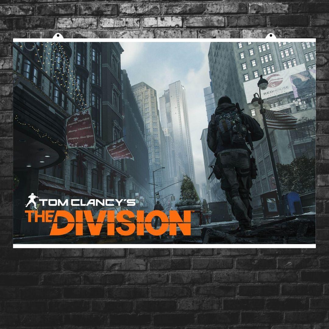 "Постер ""The Division. Чёрная пятница"". Дивизион, Том Клэнси. Размер 60x40см (A2). Глянцевая бумага"