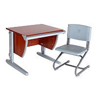 """Набор универсальной мебели """"Дэми"""":  Стол СУТ.14-00 яблоня/серый, стул СУТ.01"""