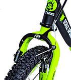 Беговел Star Scale Sports колеса 12 надувные ручной тормоз черно-салатовый, фото 2