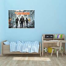 "Постер ""The Division"", Дивизион, Том Клэнси, трое сталкеров, карантин. Размер 60x40см (A2). Глянцевая бумага, фото 2"