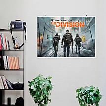 "Постер ""The Division"", Дивизион, Том Клэнси, трое сталкеров, карантин. Размер 60x40см (A2). Глянцевая бумага, фото 3"