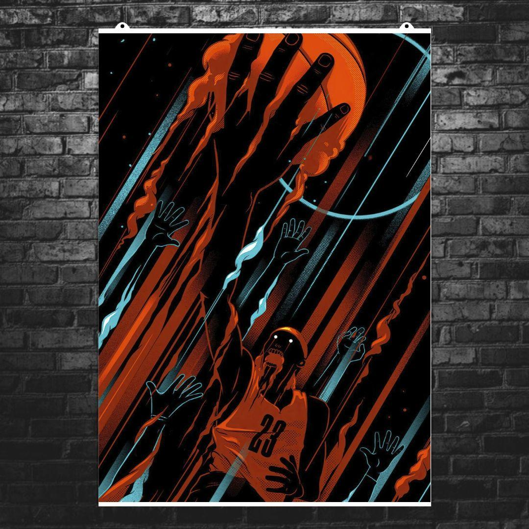 "Постер ""Майкл Джордан, минималистичный арт"". Michael Jordan, баскетбол. Размер 60x43см (A2). Глянцевая бумага"