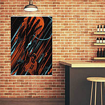 "Постер ""Майкл Джордан, минималистичный арт"". Michael Jordan, баскетбол. Размер 60x43см (A2). Глянцевая бумага, фото 2"