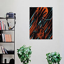 "Постер ""Майкл Джордан, минималистичный арт"". Michael Jordan, баскетбол. Размер 60x43см (A2). Глянцевая бумага, фото 3"