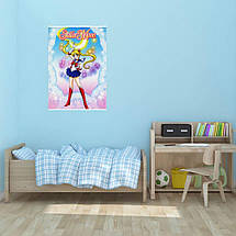"Постер ""Сейлор Мун. Звёзды и кружева"". Sailormoon, аниме. Размер 60x43см (A2). Глянцевая бумага, фото 2"