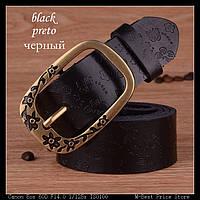 Женский кожаный ремень. Черный цвет. Арт. 802, фото 1