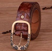 Женский кожаный ремень. Черный цвет. Арт. 802, фото 4