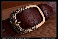 Женский кожаный ремень. Черный цвет. Арт. 802, фото 8