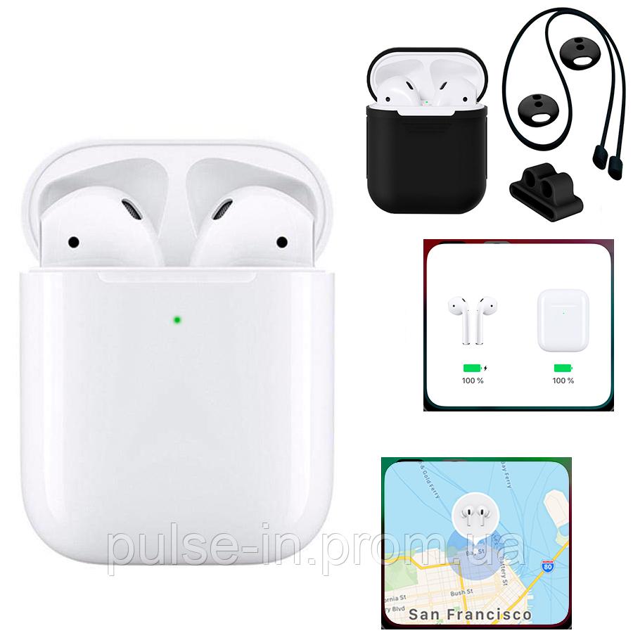 I9000 TWS (GPS) White Наушники AirPods с функцией беспроводной зарядки
