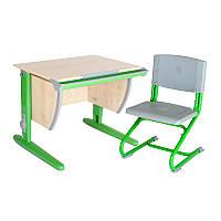 """Набор универсальной мебели """"Дэми"""":  Стол СУТ.14-00 клен/зеленый, стул СУТ.01"""