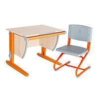 """Набор универсальной мебели """"Дэми"""":  Стол СУТ.14-00 клен/оранжевый, стул СУТ.01"""