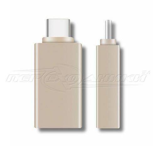 Переходник OTG USB 3.0 to Type-C (черный)