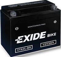 Аккумулятор Exide 12V 3AH/50A (YTX4L-BS)