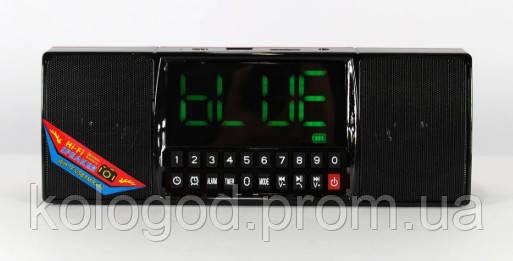 Портативна Bluetooth Колонка SPS WS 1515 BT+ Clock Музична Колонка Радіоприймач