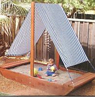 Детская песочница Кораблик 2х1,5м SportBaby (Песочница-8)
