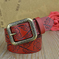 Женский кожаный ремень.Коричневый цвет.  Арт. 804, фото 1