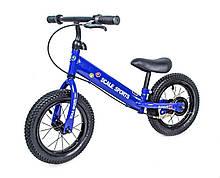 Беговел Scale Sports колеса 12 надувные ручной тормоз синий