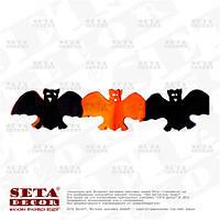 Гирлянда (растяжка) Летучая мышь 24х12,5 см, 300 см, на Хэллоуин.