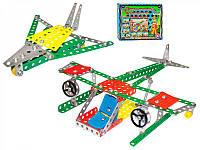 Конструктор ТехноК Воздушный транспорт на 189 деталей металлический - 223590