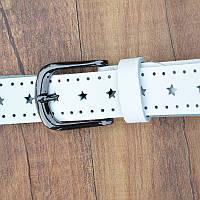 Женский кожаный ремень.Белый  Арт. 805, фото 6
