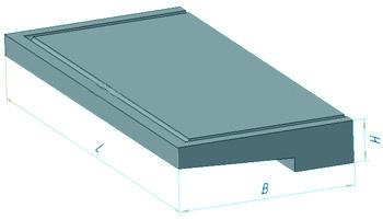 Плита балконная железобетонная УКБ 25-5к (2490 х 1370 х 150 мм)
