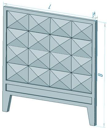 Плита забора железобетонная ЗП 400-8 (4000 х 2550 х 160 мм)