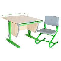 """Набор школьной мебели """"Дэми"""" СУТ.14-01 клен/зеленый со стулом"""