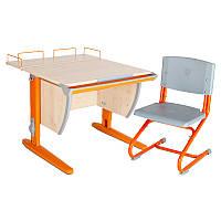 """Набор школьной мебели """"Дэми"""" СУТ.14-01 клен/оранжевый со стулом"""