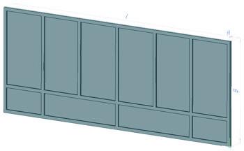 Плита наборного железобетонного забора Плита ПЗ 60x24 (6000 х 2400 х 60 мм)